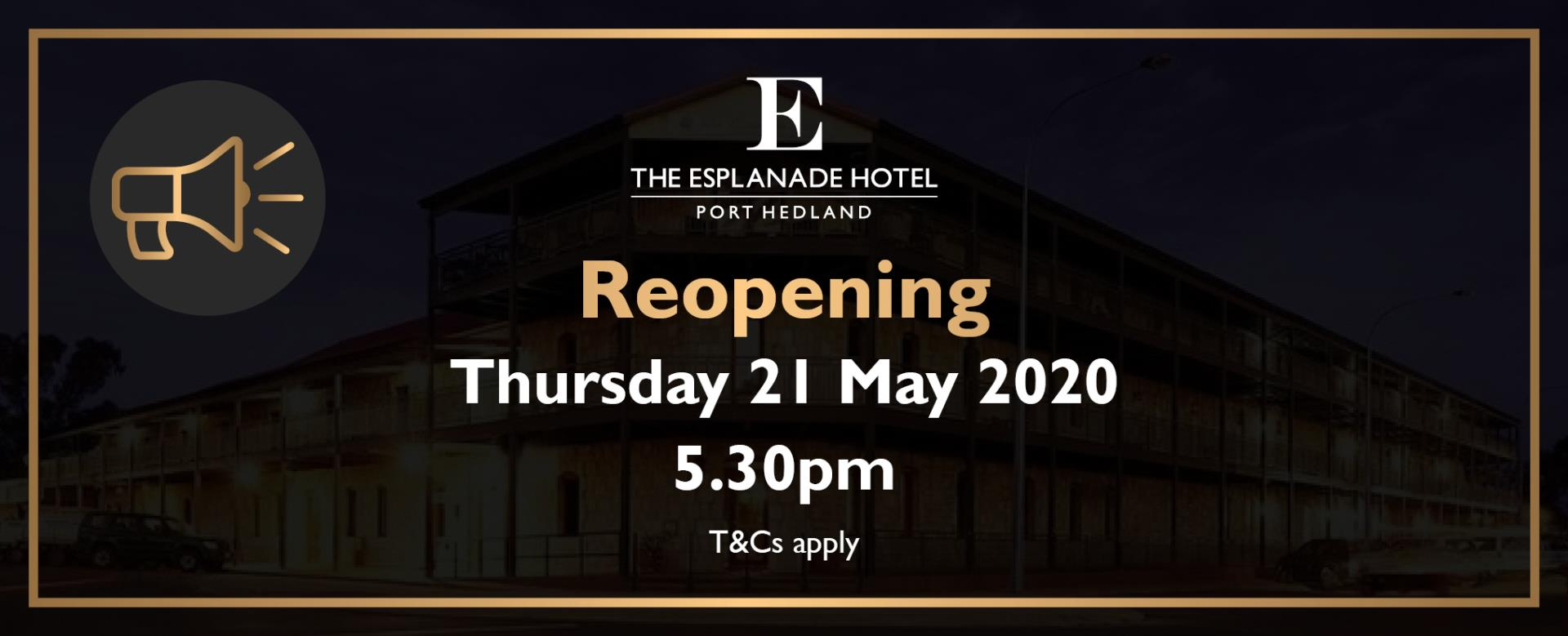 The Esplanade restaurant reopening